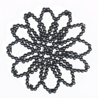 Wedstrijd accessoires Mondoni knotnetje parels zwart