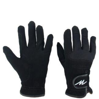 HANDSCHOENEN Mondoni Domy suede handschoen zwart