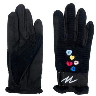 HANDSCHOENEN Mondoni Hearts  handschoenen jr zwart