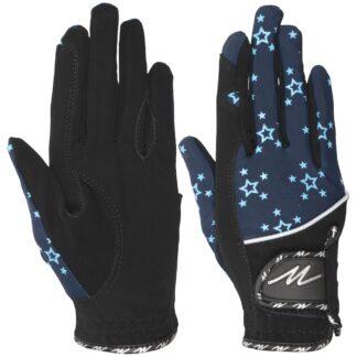 HANDSCHOENEN Mondoni Santos handschoen zwart/blauw