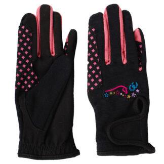HANDSCHOENEN Mondoni Heartstrings kinder handschoenen zwart