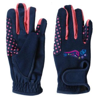 HANDSCHOENEN Mondoni Heartstrings kinder handschoenen donkerblauw
