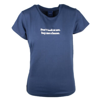 Seizoenscollecties Mondoni Don't look t-shirt donkerblauw