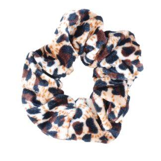 Wedstrijd accessoires Mondoni Scrunchie Leopard beige