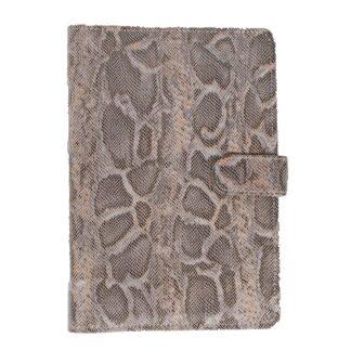 Boeken Mondoni Snake paardenpaspoortmap grijs