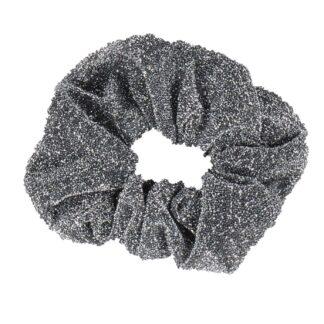 Wedstrijd accessoires Mondoni Glitter Scrunchie zwart